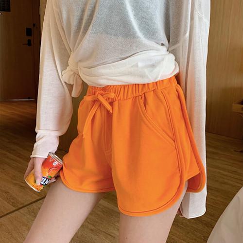 ショート丈 スウェット パンツ 5カラー b276