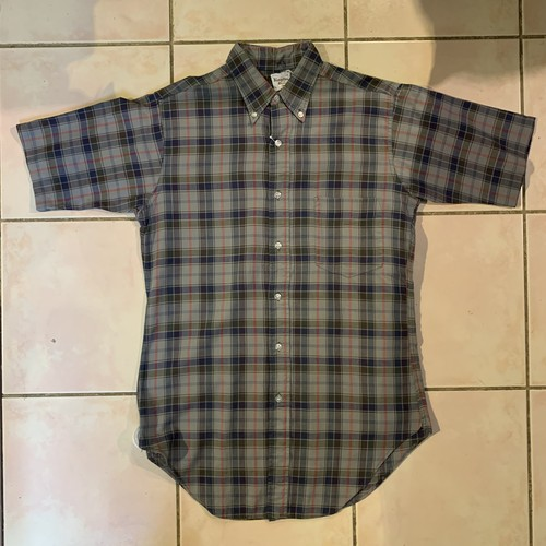 60s Kingston キングストン 60年代 チェック柄 ボタンダウンシャツ 半袖 ヴィンテージ