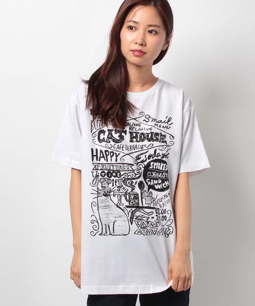 #447 Tシャツ CAT HOUSE