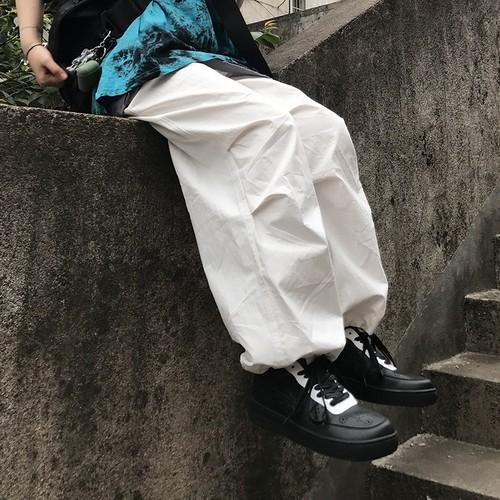 【ボトムス】カジュアルストリート系ハイウエストレギュラー丈無地なしカジュアルパンツ27264069