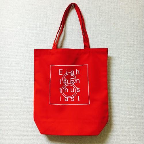 8th スクエアデザイントートバック Red