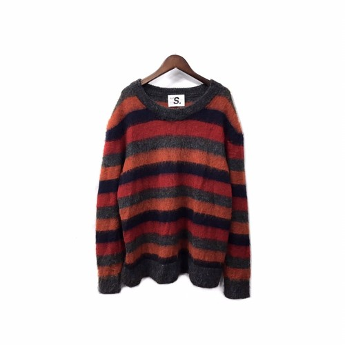 ALLEGE - Border Mohair Knit (size - 2) ¥18000+tax