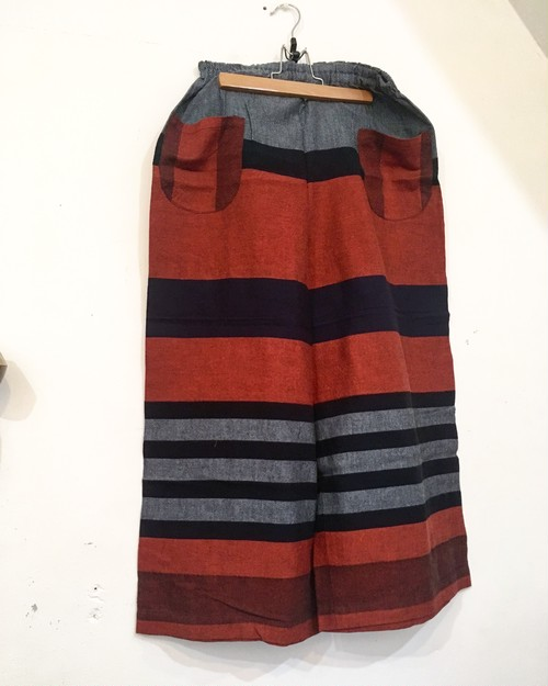【solmu】播州織 only one pants <ST> red×navy