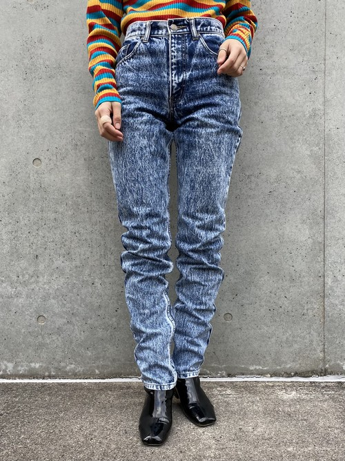 (TOYO) design slim denim pants