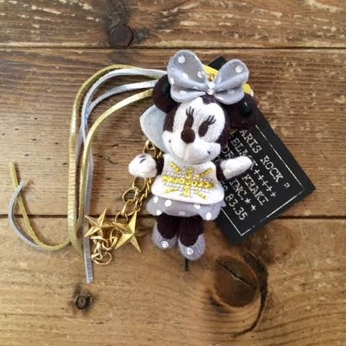 Mickey Mouse AMIGURUMI Bag Charm Gold