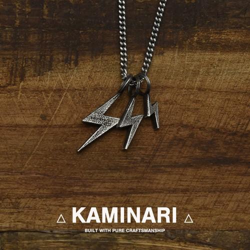 【入荷しました!】【限りなく精度が高く、研ぎ澄まされたシルバー】【新作】KAMINARI/カミナリネックレス(3連)HOOKZ/フックズ