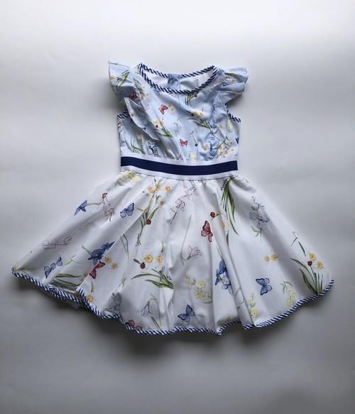MONNALISA お花チョウチョドレス 3才~12才 モナリザ