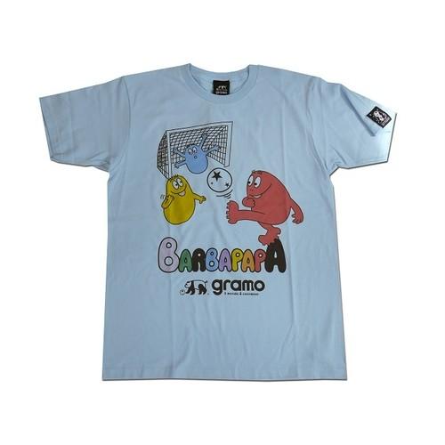 BARBAPAPA×gramo コラボ Tシャツ「pass-T」(ライトブルー/T-018) ※S~Lサイズ