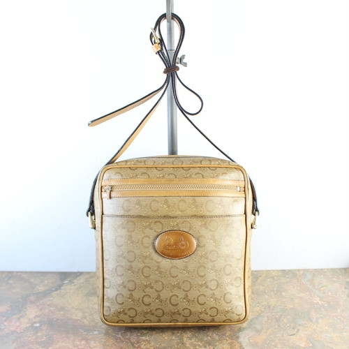 OLD CELINE CARRIAGE LOGO MACADAM PATTERNED SHOULDER BAG MADE IN ITALY/オールドセリーヌ馬車ロゴマカダム柄ショルダーバッグ