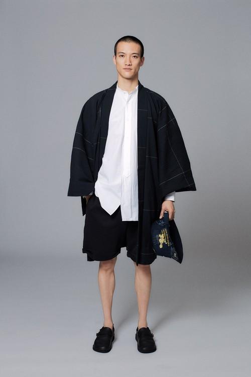 羽織 / 越後片貝綿ちぢみ / 2Line / Black(With tailoring)