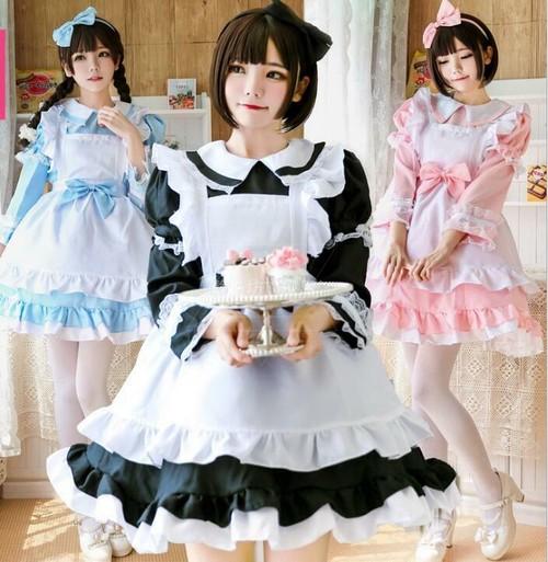 9922コスプレ衣装 ロリータ衣装 ロリータ服 可愛い 少女風 Lolita ワンピース メイド服 大きいサイズ