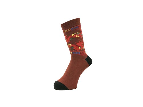 WHIMSY - 32/1 DRAGON SOCKS (Brown)
