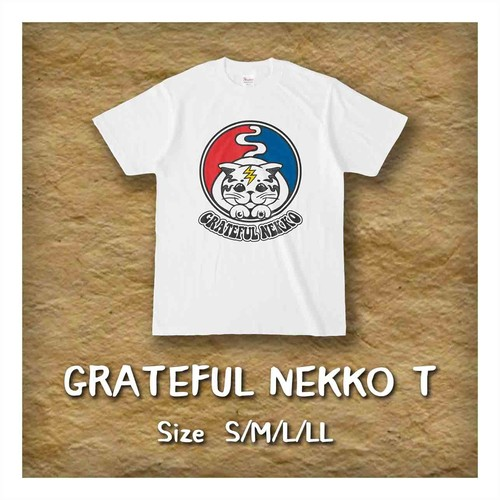 Tシャツ「Grateful Nekko」(UNISEX)