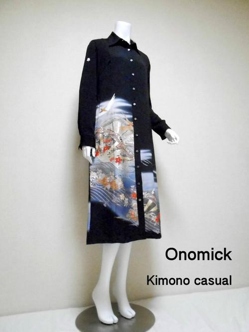 着物ロングシャツ Kimono Long Shirt  LO-181/M