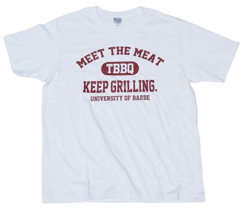 バーベカレッジTシャツ(ホワイト)