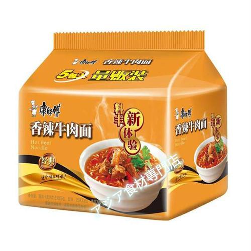 【常温便】康师傅香辣牛肉面(辛口牛肉インスタント麺)
