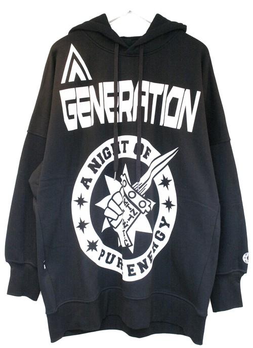 KTZ GENERATION PRINTED HOODIE ジェネレーション プリンテッド パーカー / BLACK