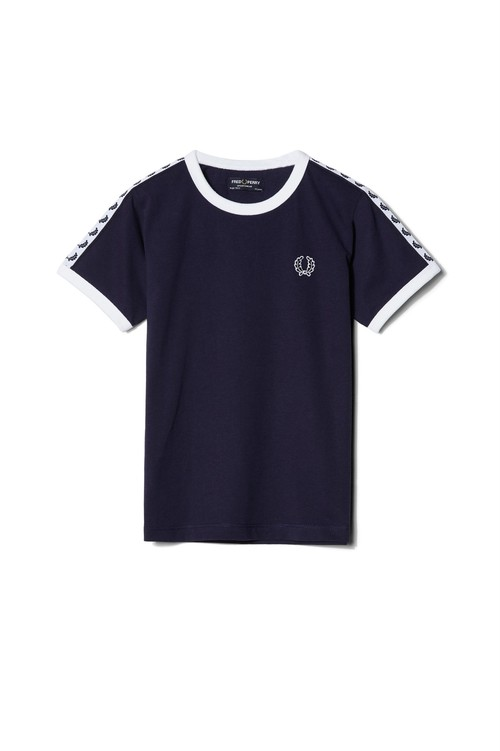 30% OFF !  Kids Fred Perry Authentic Taped  T-Shirt  ( Carbon Blue カラー ) キッズ フレッドペリー Tシャツ