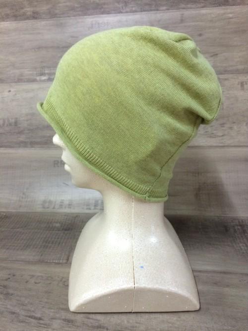 【送料無料】こころが軽くなるニット帽子amuamu 新潟の老舗ニットメーカーが考案した抗がん治療中の脱毛ストレスを軽減する機能性と豊富なデザイン NB-6058 ピスタチオ <オーガニックコットン アウター>