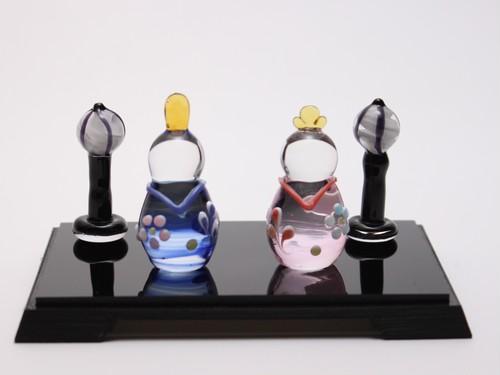 ガラス雛 親王飾り mini