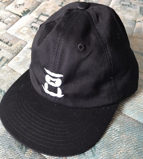 豆CAP STRAP BACK  ブラック