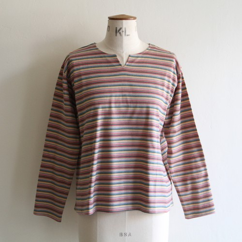 quitan【 womens 】v-front mixed stripe