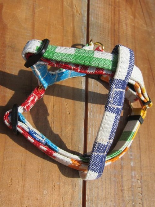 Crazy Pattern / Gingham Check Harness - XS(超小型犬用)