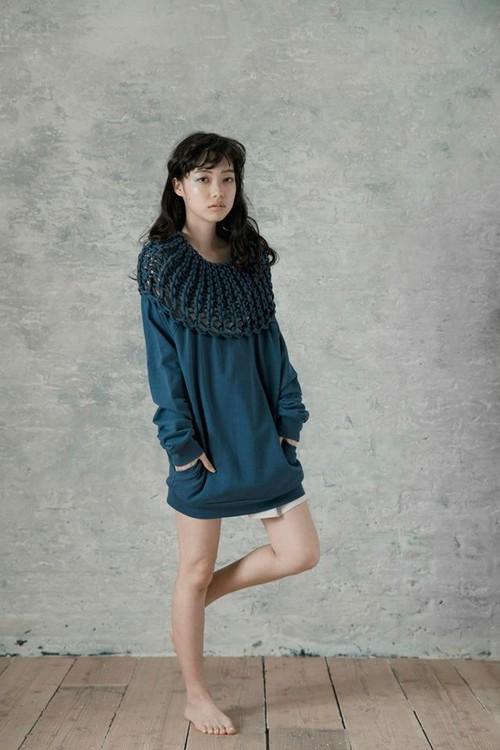 "【SALE 30% OFF】DUSTY FISHER Sweater ""blue"""