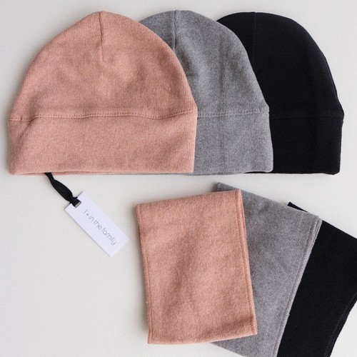 1 + in the family LUCCA beanie & scarf(全3色/2サイズ)
