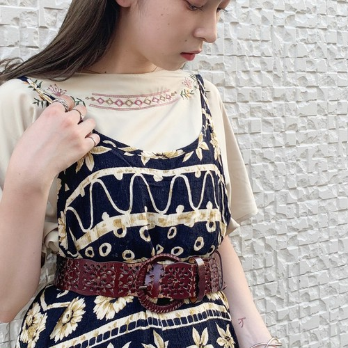 (LOOK) embroidery design s/s shirt
