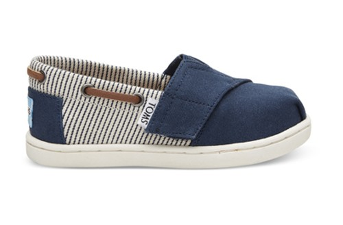 TOMS /  NAVY CANVAS STRIPES TINY BIMINIS