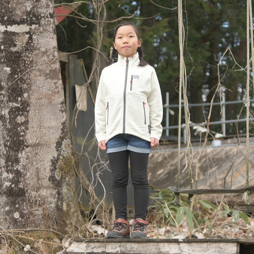 Kids 130 / UN3000 Mid weight fleece Jacket / Cream