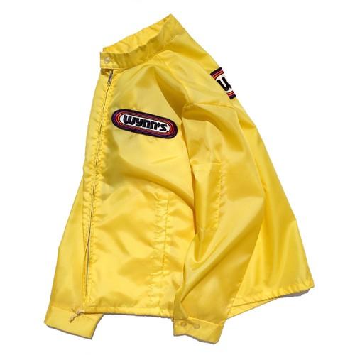 1980's [wynn's] オフィシャルナイロンレーシングジャケット イエロー×パープル 実寸(M〜L程度) ヴィンテージ