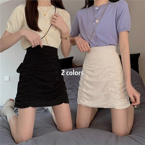 A line tight skirt 2color