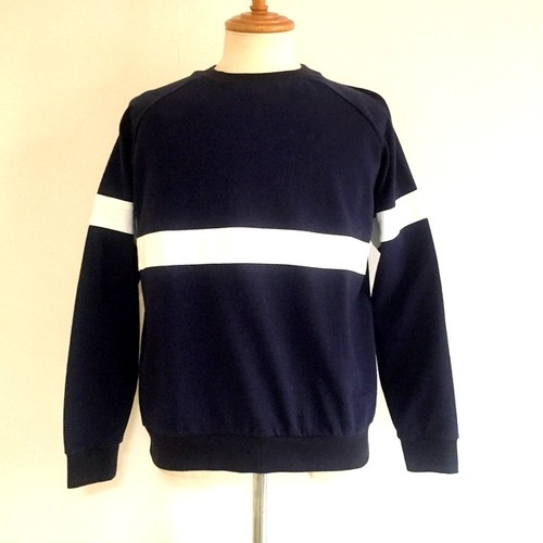 BSQ French Military Line Sweat Shirts Navy