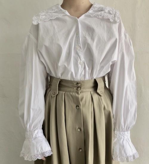 90's white lace blouse.