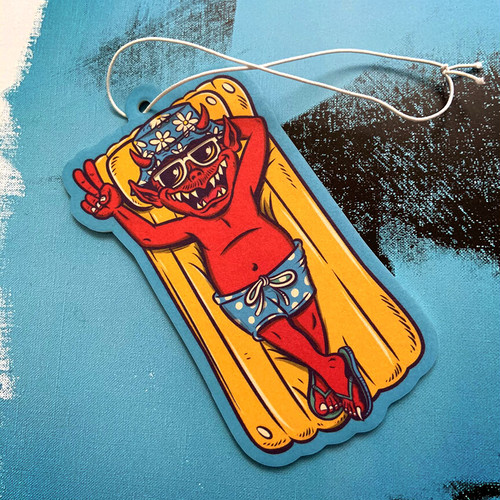 """""""Hangin Loose-ifer"""" Air Freshener by Burrito Breath x Zap Cables"""