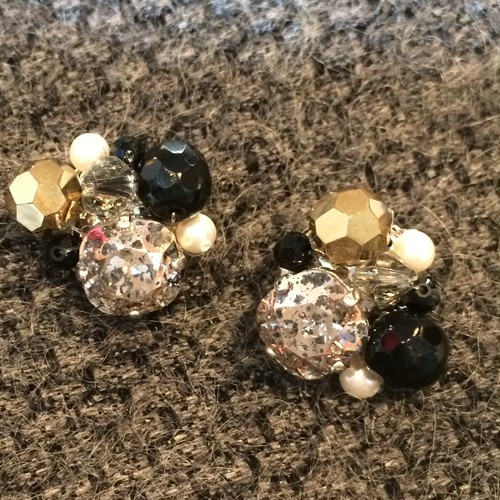 1950s Antique beads × SWAROVSKI  --shoes crip--