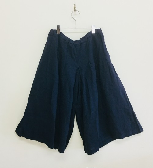 【NATURAL LUNDRY】21リネンキュロットPT/7182P-004