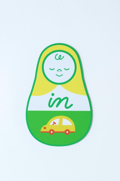 マトリョーシカのBABY IN CAR【緑】