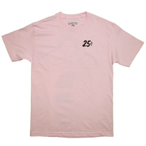QUARTER SNACKS CHAMPAGNE FOREVER TEE Pink