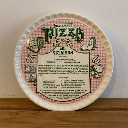 ビンテージ プレート Vintage Pizza Recipe Plate  Royal China社