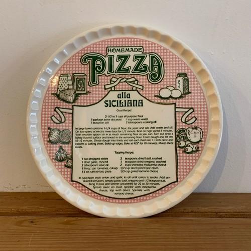 ビンテージ プレート Vintage Pizza Recipe Plate  Royal China社