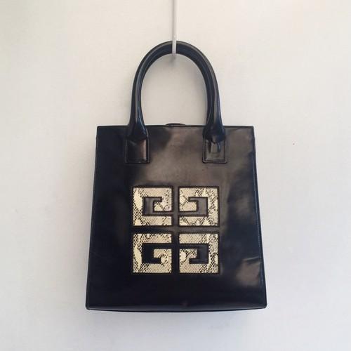 GIVENCHY enamel × python hand bag