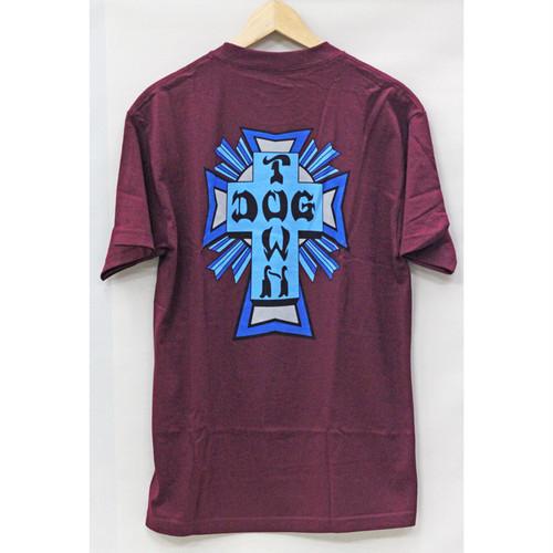 【ドッグタウン】クロスロゴカラーTシャツ マルーン