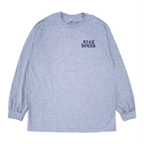 "SIXSENSE ""STAY YOUNG"" L/S -heather gray-"