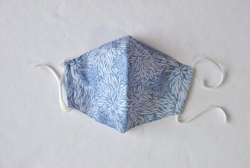 藍染×型染 立体マスク(夏用・3重構造)各柄あり