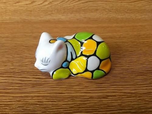 眠り猫ミニ MOZAIKU グリーン