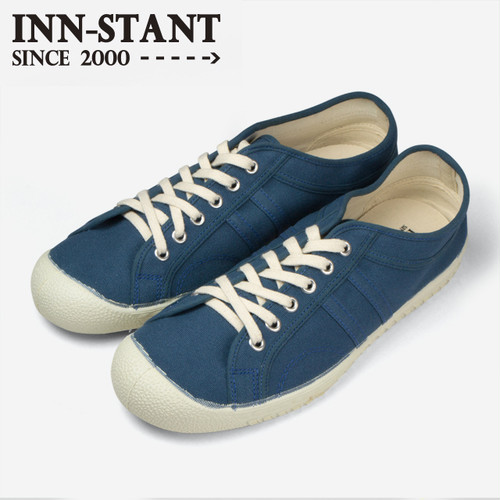 #115 CANVAS SHOES blue/blue (natural sole)  INN-STANT インスタント 【消費税込・送料無料】