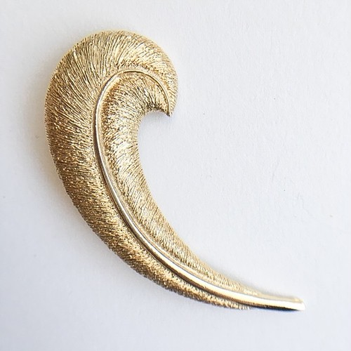 gold feather brooch[b-223]